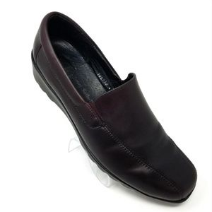 Josef Seibel Brown Leather Slip On European Loafe.